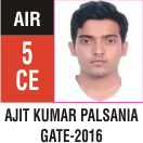 Peeyush Kr. Shrivastav, GATE 2016, RANK 5